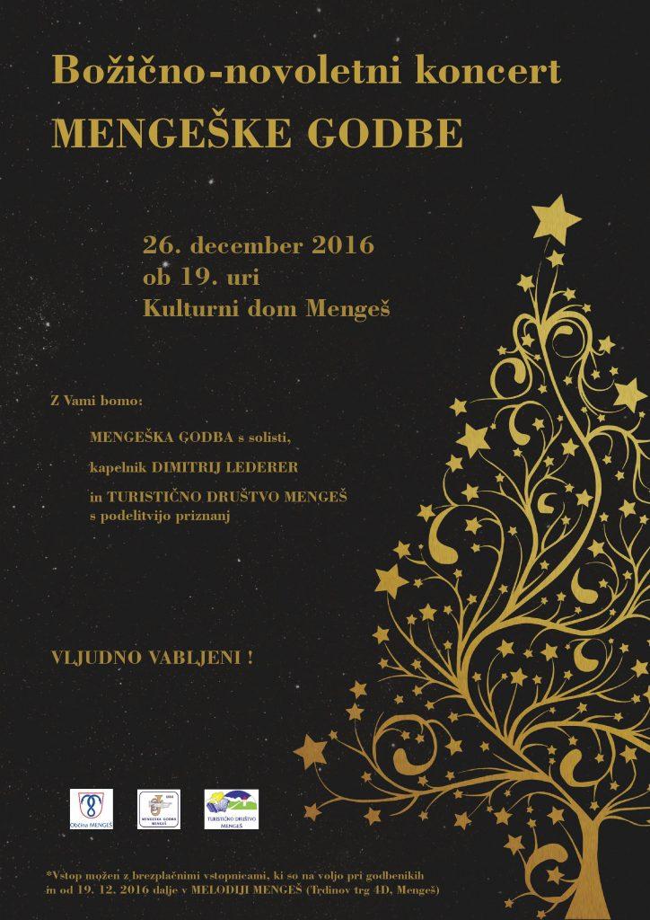 VABILO: Božično-novoletni koncert Mengeške godbe 2016